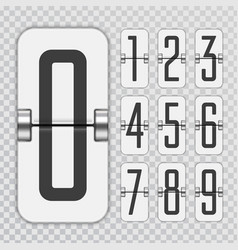 countdown numbers flip counter vector image