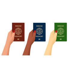 Covid19-19 immunity passport immunity certificate vector