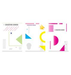 Creative cover design geometric background vector