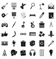 Creative job icons set simple style vector