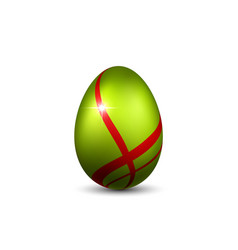 Easter egg 3d icon red green egg isolated white vector