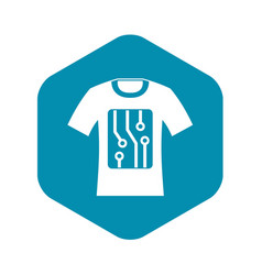 Electronic t-shirt icon simple style vector