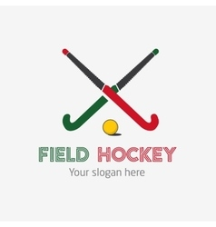 Field hockey team logo sport club badge vector image