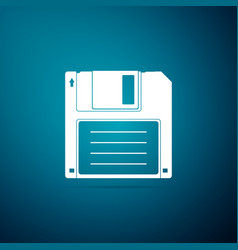 Floppy disk for computer data storage icon vector
