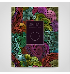 Floral mosaic vector image