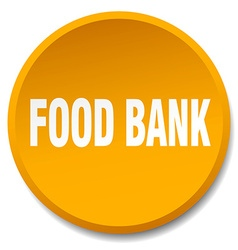 Food bank orange round flat isolated push button vector