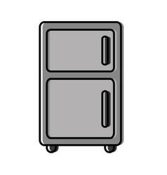 Fridge icon image vector