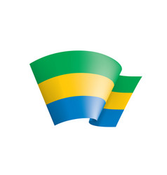 gabon flag on a white vector image