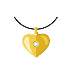 golden pendant vector image
