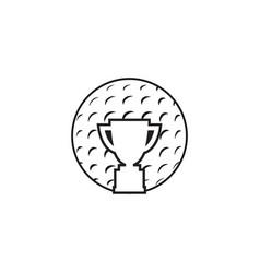 golf icon graphic design template vector image
