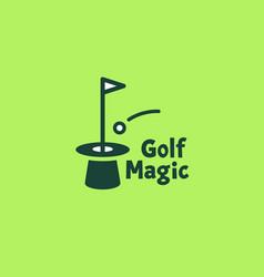 golf magic logo vector image