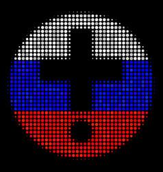 Halftone russian medical pharmacy icon vector