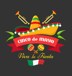 hispanic cultural event banner vector image