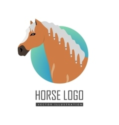 Horse Logo in Flat Design vector image