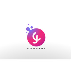 Jc letter dots logo design with creative trendy vector