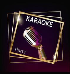 Karaoke party banner layout vector