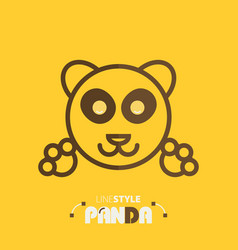 line style panda vector image