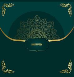 luxury mandala pattern background with golden vector image