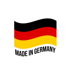 made in germany wavy icon with german flag vector image