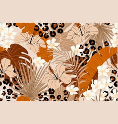 modern exotic seamless pattern leopard fur vector image