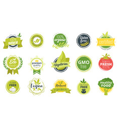 Natural food sticker or seal vector