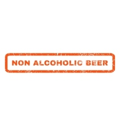 Non Alcoholic Beer Rubber Stamp vector
