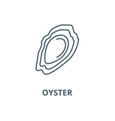 oyster line icon linear concept outline vector image