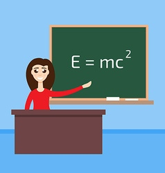 physics teacher in the classroom vector image