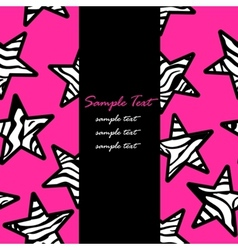 Pink zebra print stars backgrounds vector image