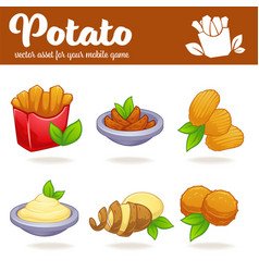 Potato cartoon asset for your app or mobile game vector