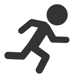 Running Child Icon vector image