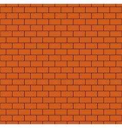 Russet Brick Wall Seamless Pattern vector image