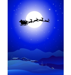 santa with slaig vector image