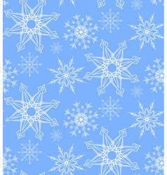 seamless pattern with doodle snowflakes for your vector image