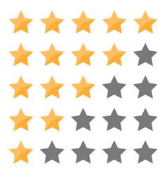 set star rating for app banner sign flyer vector image
