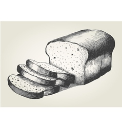 Sketch of sliced bread vector image