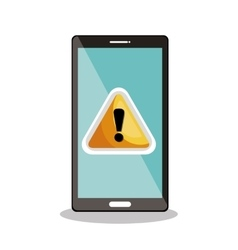 smartphone warning symbol icon desig vector image