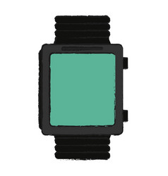 Smartwatch with blank screen icon image vector