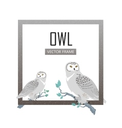 Snowy Owls Flat Design vector
