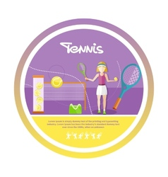 Sporty girl tennis player with racket vector image