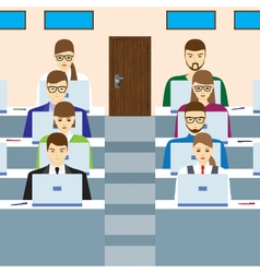 Students in the audience vector image
