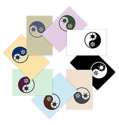 Symbol climate balance shape yin-yang firm style vector image