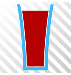 tomato juice glass eps icon vector image