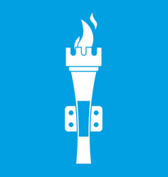 Torch icon white vector