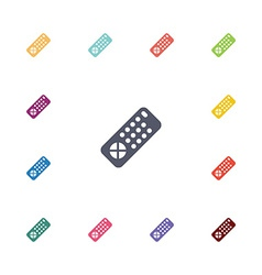 Tv remote flat icons set vector