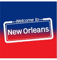 Welcome to new orleans city design vector