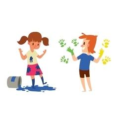 Artist kids children set vector