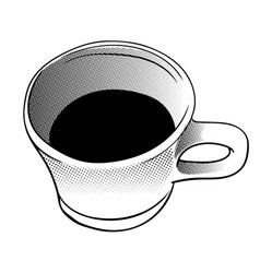 cup of coffee in halftone style - vector image vector image
