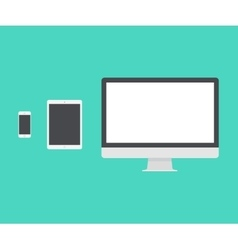 Electronic Device Laptop Phone Tablet Flat vector image