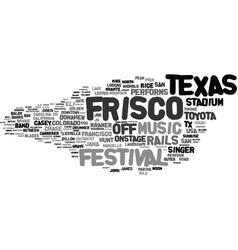 Frisco word cloud concept vector